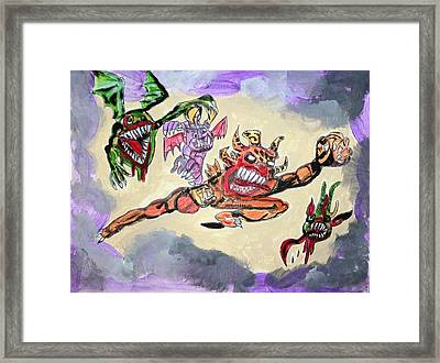 Monsters With Disagreements Framed Print