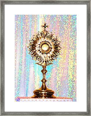 Monstrance Framed Print