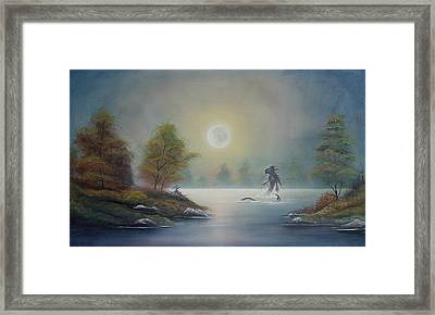 Monstruo Ness Framed Print by Angel Ortiz