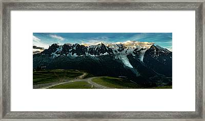 Mont Blanc And Aiguille Du Midi Framed Print by One Starry Night
