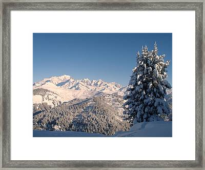 Mont Blanc From Les Saisies Framed Print