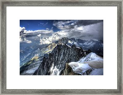 Framed Print featuring the photograph Mont Blanc Near Chamonix In French Alps by Shawn Everhart