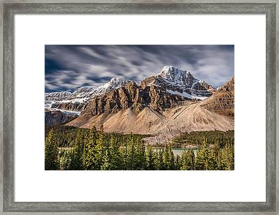 Mont Crowfoot On The Icefield Parkway Framed Print by Pierre Leclerc Photography