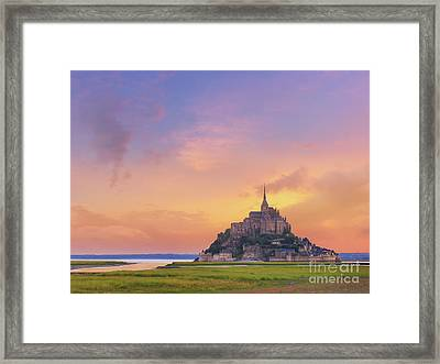 Mont-saint-michel At Dawn Framed Print