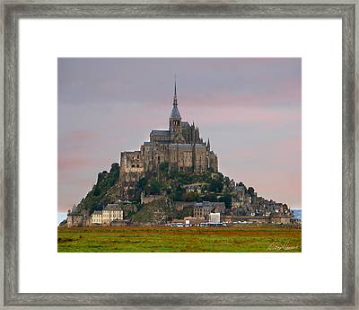 Mont Saint Michel Framed Print by Diana Haronis
