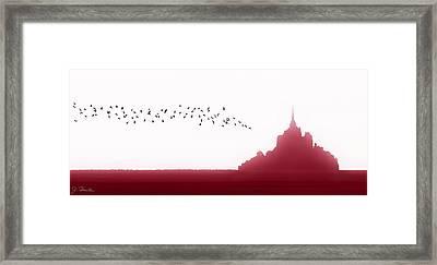Mont Saint-michel Fantasy Framed Print