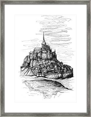 Mont-saint-michel Framed Print by Katerina Kopaeva