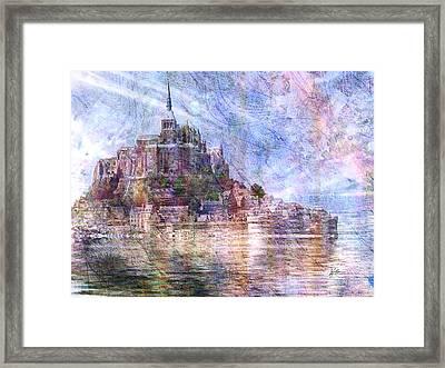 Mont Saint Michel Framed Print by Kiki Art