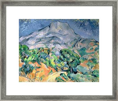 Mont Sainte Victoire Framed Print by Paul Cezanne