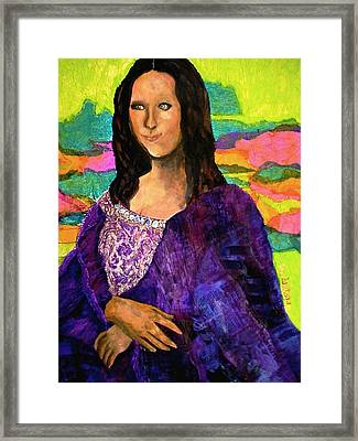 Montage Mona Lisa Framed Print by Laura  Grisham