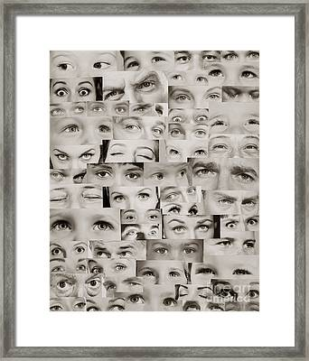 Montage Of Eyes, C.1960s Framed Print