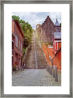 Montagne De Bueren, Liege, Belgium Framed Print