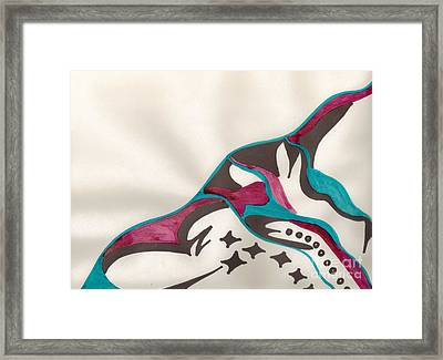 Montagne Framed Print by Mary Mikawoz
