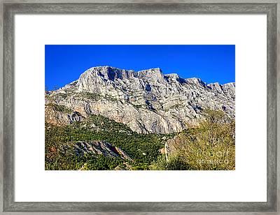 Montagne Sainte Victoire Framed Print by Olivier Le Queinec