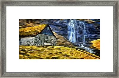 Montains Home - Da Framed Print by Leonardo Digenio