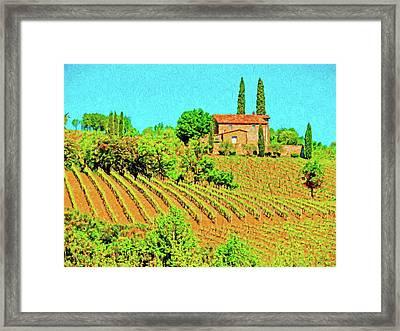 Montalcino Farm Framed Print