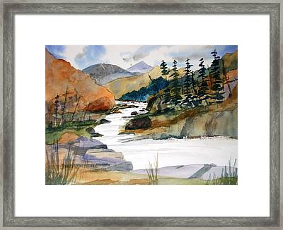 Montana Canyon Framed Print by Larry Hamilton