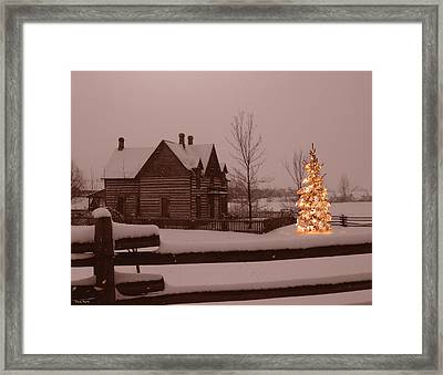 Montana Christmas Framed Print by Paul Porto