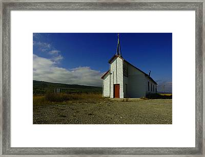 Montana Church Framed Print by Tom  Reed