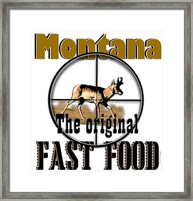Montana Fast Food Framed Print