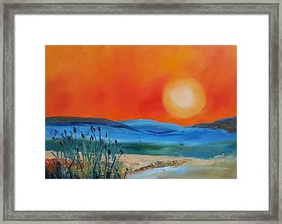 Montana Firery Sunset             49 Framed Print