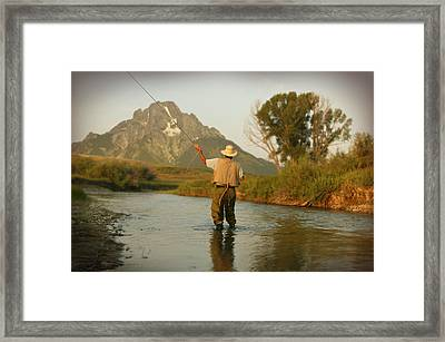 Montana Fly Fishing Framed Print by Guy Crittenden