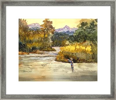 Montana Fly Fishing Framed Print