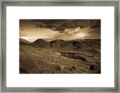 Montana Landscape Framed Print by Patrick  Flynn