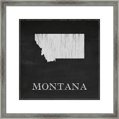 Montana Map Framed Print