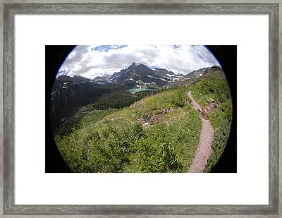 Montana Mountain Path  Framed Print