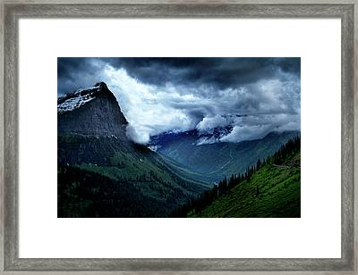Montana Mountain Vista Framed Print