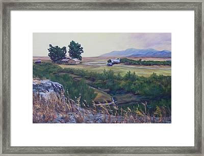 Montana Prairie Framed Print