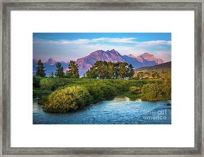 Montana Purple Mountains Framed Print by Inge Johnsson
