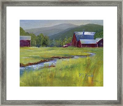 Montana Ranch Framed Print