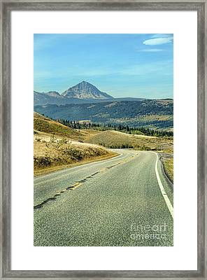 Framed Print featuring the photograph Montana Road by Jill Battaglia