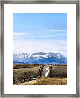 Montana Scenery One Framed Print