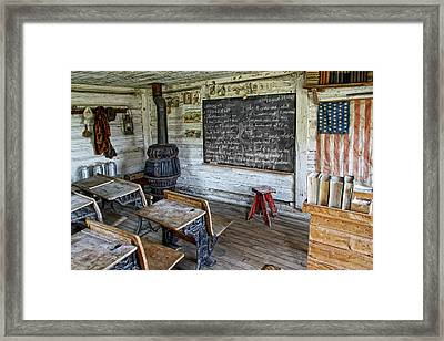 Montana School Lesson August 29 1864 Framed Print by Daniel Hagerman