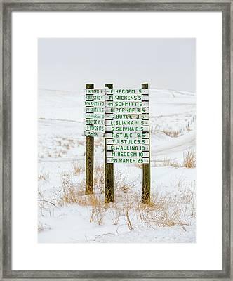 Montana Signpost Framed Print by Todd Klassy