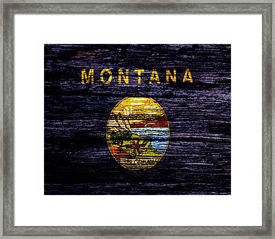 Montana State Flag 1w Framed Print