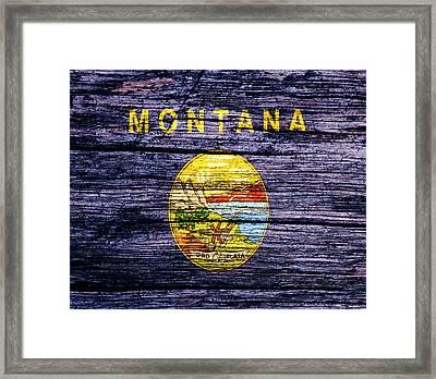 Montana State Flag 2w Framed Print