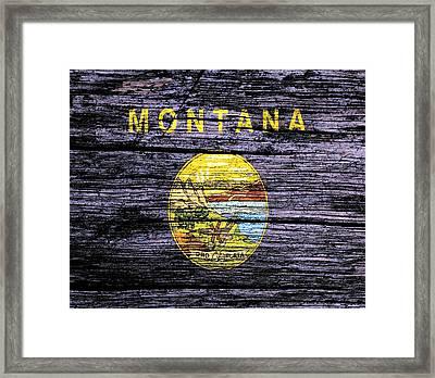 Montana State Flag 3w Framed Print