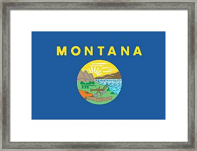 Montana State Flag Framed Print by American School