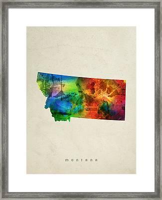 Montana State Map 03 Framed Print