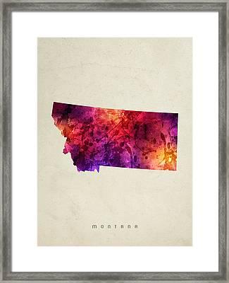 Montana State Map 05 Framed Print