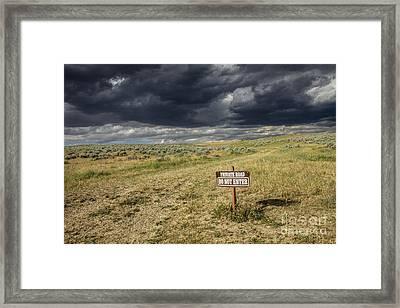 Montana Storm Framed Print by Sandy Adams