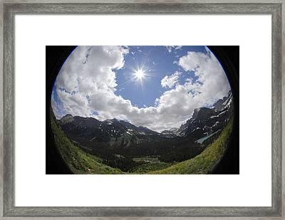 Montana Sun Burst Framed Print
