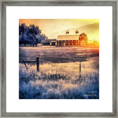 Montana Sunrise Framed Print