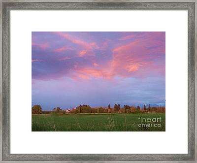 Montana Sunset 2 Framed Print