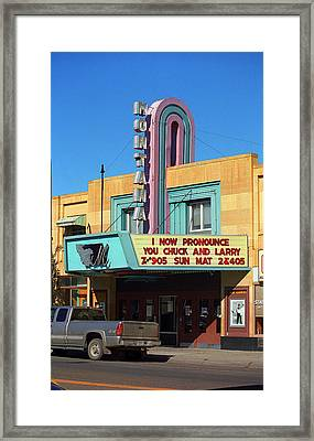 Miles City Montana - Theater Framed Print