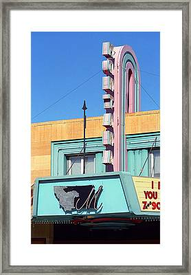 Miles City Montana - Theater Marquee Framed Print
